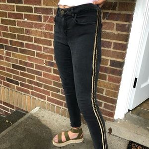 Gold pipped jeans